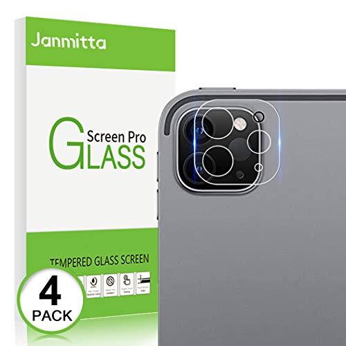 Janmitta Kamera Panzerglas für iPad Pro 11/iPad Pro 12.9 2020 Schutzfolie [4 Stücke], 9H Härte Back Linse Panzerglas [Anti-Kratzen] [Anti-Öl] Transparentes Schutzglas