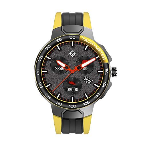HQPCAHL Smartwatch Reloj Inteligente Impermeable IP68 para Hombre Mujer Niños Pulsera De Actividad Inteligente con Monitor De Sueño Contador De Caloría Pulsómetros Podómetro para Android iOS,Amarillo