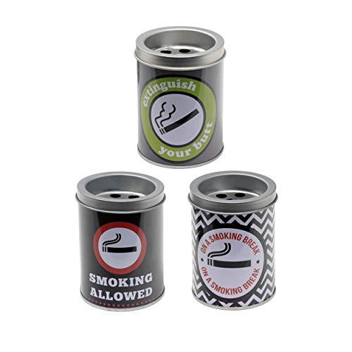 HOGAR Y MAS Ceniceros Originales Decoración 3X1, Diseño Trendy. Ideal para Fumadores.