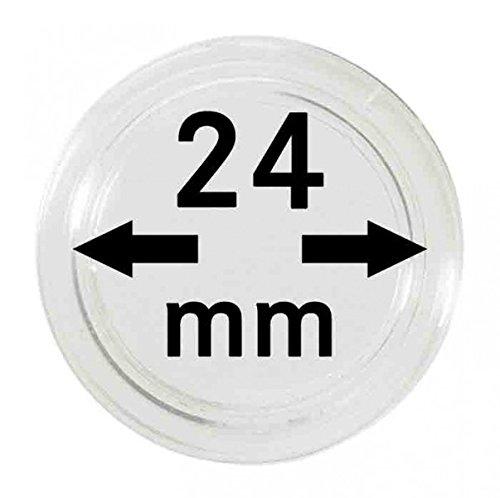 LINDNER Das Original Capsules Monnaies Ø intérieur 24 mm, Paquet de 100