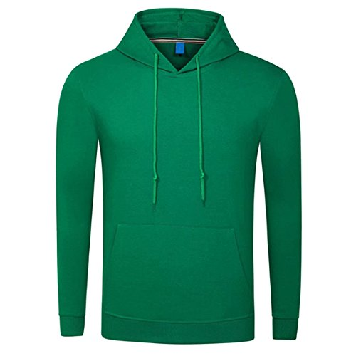 KINDOYO Homme Sweat-Shirt à Capuche Manches Longues Mode Pulls Manteau Hoodie en Tricot Couleur Unie Sweater Manteau, Blanc/Jaune/Rouge/Gris/Noir/Vert/Bleu