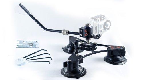 Vector Mount Dynamic Swivel Rotating Action Camera Mounting System for GoPro Hero2 Hero3 - GoBase Black