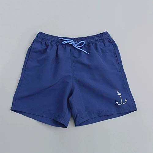 YIXING Mens Swimwear Swim Shorts Trunks Beach Board Shorts Swimming Pants Swimsuits Mens Running Sports Surffing Shorts (Color : Blue, Size : M)