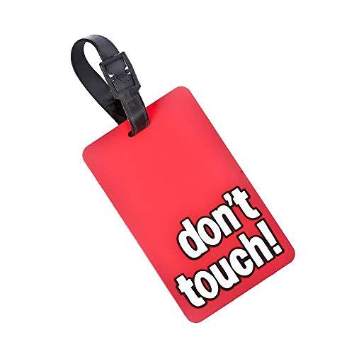 CKB Ltd rojo novedad equipaje maleta etiqueta–Don 't Touch