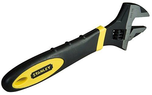 Stanley Einmaulschlüssel MaxSteel verstellbar (24 mm Breite, 150 mm Länge, Chrom-Vanadium Stahl, Bi-Material) 2-90-947