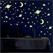 Satya Vipal™ 'Galaxy of Stars Radium Glow in The Dark' Kids Room Wall Stickers (Pack of 4 Sheets)