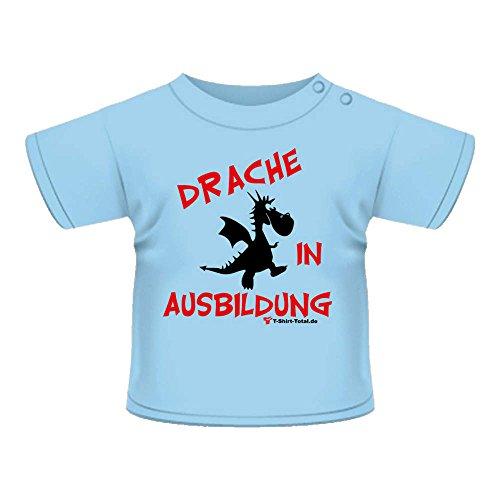 Anna & Philip Baby Kind Fun Spruch T-Shirt hellblau Drache in Ausbildung Größenwahl (98)