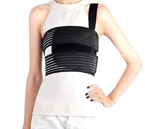 Solmyr Rib and Chest Support Brace, Broken Rib Brace, Breathable Rib Belt for Sore or Bruised Ribs Support, Sternum Injuries, Dislocated Ribs Protection, Pulled Muscle Pain (L)