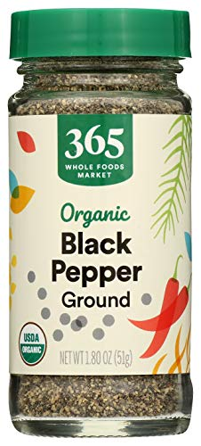 365 by WFM, Pepper Black Ground Organic, 1.8 Ounce