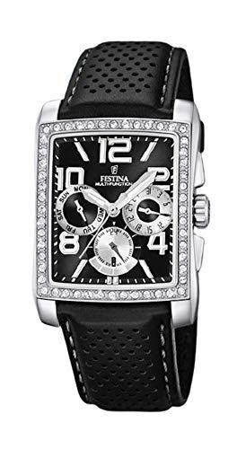 Festina Reloj Mujer Cuadrado con Circonitas - Negro - Ref F16362/K
