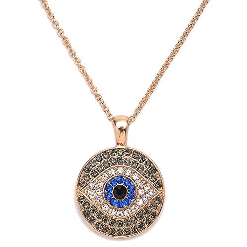 collar Collares Colgantes De Ojo Azul De Diamantes De Imitación Vintage Para Mujer, Collar Con Forma De Ojo Simple, Joyería De Boda, Regalo, Gargantilla De Pavo