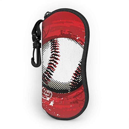 Sonnenbrille Brillenetui Baseball Tasche Kratzfest staubsichere Brillenbox mit Gürtelclip für Schlüssel, Bleistifte, Karten