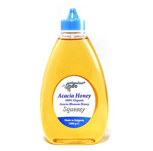 1 kg Bio Miel de Fleur d'Acacia Liquide - Cru, Non Chauffé, Sans Sucre, Non pasteurisée, sans additifs