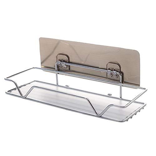 WOMGD badkamer plank, roestvrij staal douchecabine rekken, muur gemonteerd hoek douche-organisator plank huis met zuignap voor badkamer keuken