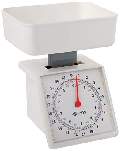 CDN SM2201 Mechanical Kitchen Food Scale, 22 Lb, White