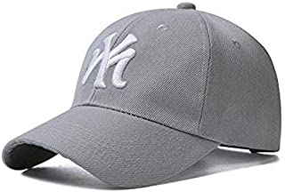 Vadeytfl Baseball Caps Unisex Visor Hat Adjustable Hiking Leisure Cap (Color : Gray)