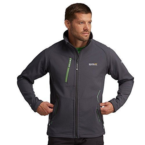 Regatta Great Outdoors Herren Adventure Tech Softshell Jacke Nielson II (3XL) (Grau)