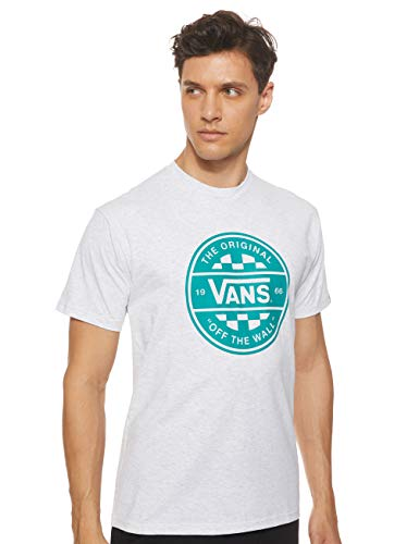 Vans Herren Checker Co. Ii T-Shirt, Grau (Ash Heather Rkz), X-Large