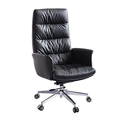 Dongxiao Sillas de ordenador, silla moderna giratoria para computadora, silla ejecutiva con asiento suave para sala de estudio, hogar, oficina, dormitorio, oficina, escritorio (color: negro)