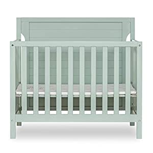 Dream On Me Bellport Convertible Mini/Portable Crib I Mini Baby Crib I Includes