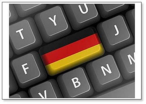 Duitse vlag sleutel op toetsenbord (Duitsland Deutschland Deutsch) - Classic Koelkast magneet