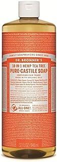 Dr Bronner Organic Tea Tree Castile Liquid Soap 946ml - のブロナーオーガニックティーツリーカスティーリャ液体石鹸946ミリリットル [並行輸入品]
