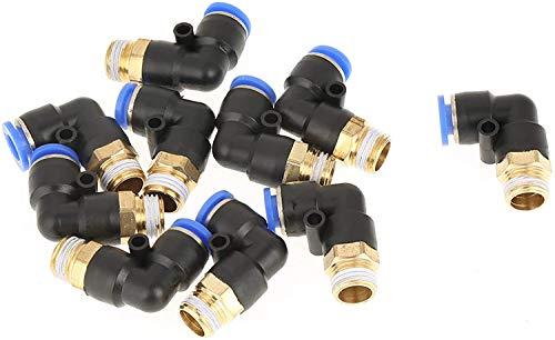 360 grados, 0 a 60 ° C, conexión de tubo, liberación rápida, conector de codo, para conexión de tubería