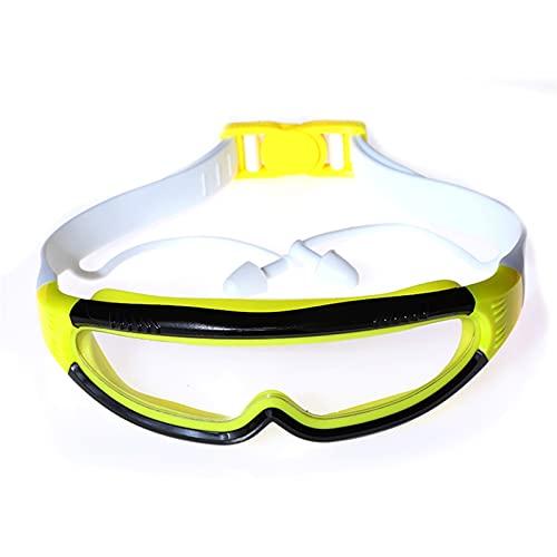 YWSZY Gafas Natacion, Anti-Niebla y Anti-Ultravioleta, Colorido, Adulto/niño, Gafas de natación, con Clip, Clip, Tapones, Gafas de natación. (Color : Negro)