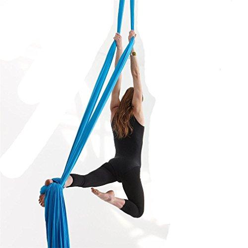 10M Premium Aerial Silks Equipment Aerial Yoga Hammock Set Yoga Set Safe Deluxe Aerial Kit...
