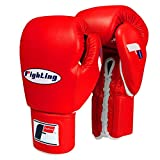 Fighting Sports Fury Professional Lace Training Gloves, Red, 18 oz