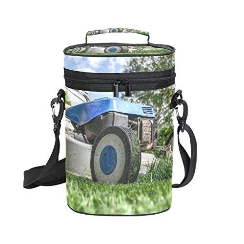 Montoj Weinkühltasche, isoliert, für Reisen, blauer Rasenmäher, Bild, Weintasche