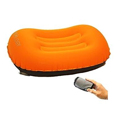 Trekology DREAMER COMFORT Ultralight Inflating Travel/Camping Air Pillows (orange)