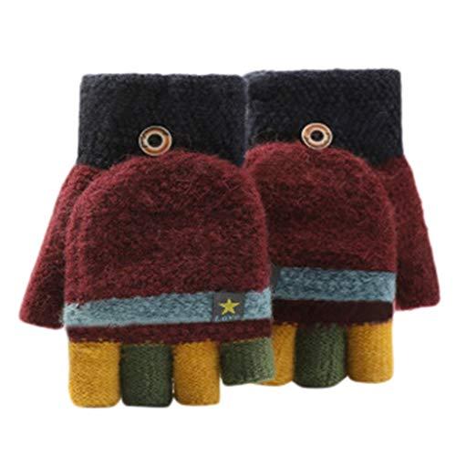 URSING Kinder Warme Handschuhe Sporthandschuhe Kinderhandschuhe Half Finger Handschuhe Skihandschuh Säugling Baby Mädchen Jungen Winter Stretch Handschuhe Strickhandschuhe