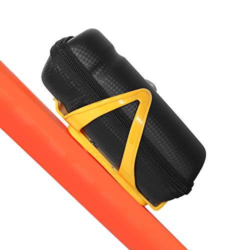 Bolsa de bicicleta impermeable impermeable, 18 * 7.5 cm Bolsa de montar de bicicleta Metal plástico para ciclismo Mantenimiento Pack Box (Negro)