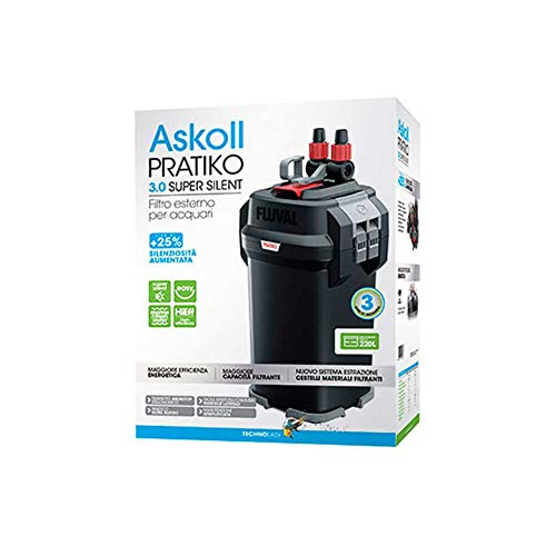 Askoll Pratiko 200 3.0 Super Silent Filtro Esterno per acquari Fino a 230 Litri New 2019