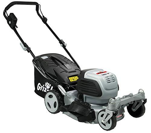 Grizzly Elektro Rasenmäher ERM 1642 Q-360°, 42 cm Schnittbreite, 1600 Watt, 2 Lenkrollen vorne, Stahlgehäuse