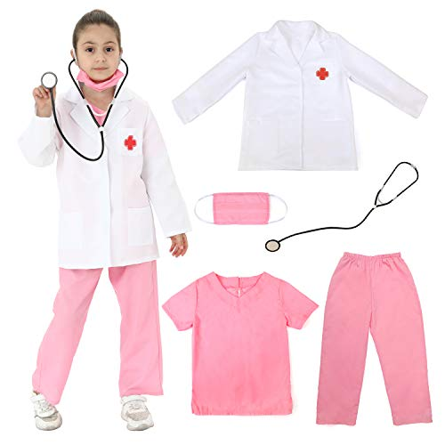 Sincere Party Unisex Kinder Arzt Kostüm rosa Arztpeelings Stil C 5-7 Jahre