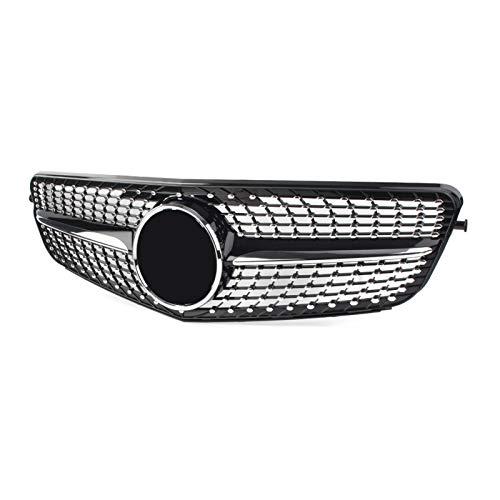 Karosserie-Armaturen Kühlergrills Für Mercedes-Benz W204 C-Klasse C180 C200 C300 2009 2009 2011 2011 2012 2013 2014 Diamant Stil Auto Front Racing Grill Molding