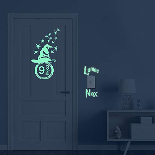 Glow in The Dark Stars Peel and Wall Decals - HP Gifts Wall Stickers for Boys Girls Bedroom Home Door Window Wall Decor