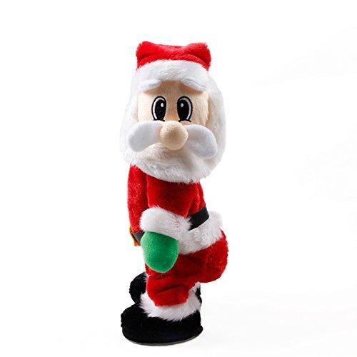 Twerking Santa Weihnachtsmann,CHUANHAO Santa Claus Twisted Hip Singener Figure Geschenk für Kinder