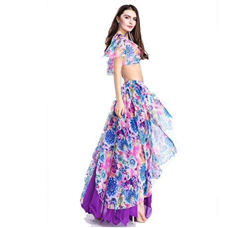 Falda de danza del vientre, conjunto de vestimenta de danza del ...