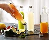 12 Glasflaschen 250ml Eckig - Schraubverschluss - 12 Etiketten mit Stift - Leere Flaschen - 6