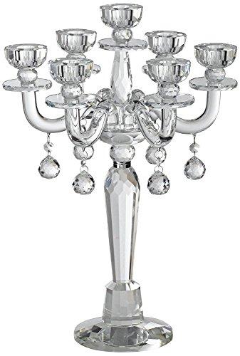Dahlia Studios Huntington 19' High Crystal Candelabra Taper Candle Holder