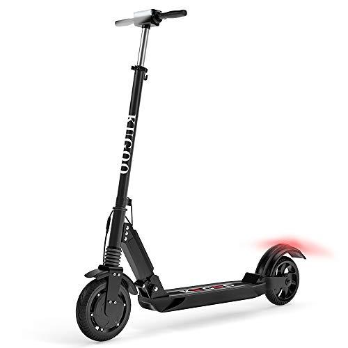 Kugoo S1 Patinete Eléctrico, Potencia máxima de 350 W, Ruedas de 8', autonomía ilimitada hasta 30 KM, 3 Modos de conducción, Scooter Electric Portátil Plegable para Adultos y Adolescentes (Negro)