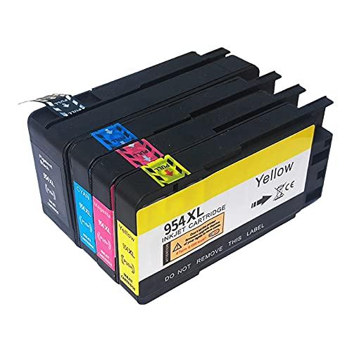 RICR 954 Cartuchos De Tinta Remanufacturados para Reemplazo De para HP954XL, Compatible para HP OfficeJet Pro 7720 7730 77408210 8218 8710 8715 8718 8720 8725 8728 8730 8 1set