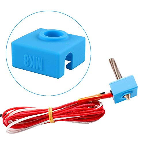 Furiga MK8 Extrusora 12 V 40 W parte caliente montado DIY 0.4 mm calentador de boquilla para RepRap prusa i3 1.75 mm filamento silicona calcetín 1PC