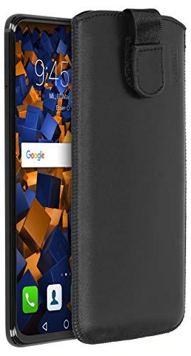 mumbi Echt Ledertasche kompatibel mit Honor View 20 Hülle Leder Tasche Hülle Wallet, schwarz