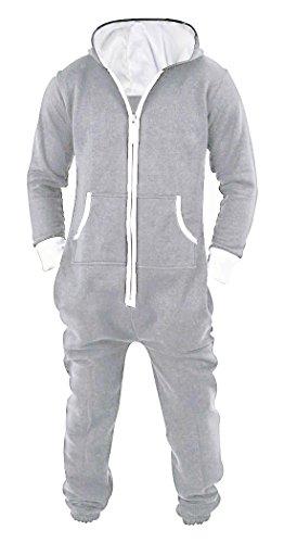 SKYLINEWEARS Men's Unisex Onesie Jumpsuit One Piece Non Footed Pajama Playsuit XX-Large Gray