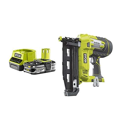 Pack RYOBI Cloueur à air comprimé 18V OnePlus R18N16G-0-1 Batterie 2.5Ah - 1 Chargeur rapide RC18120-125