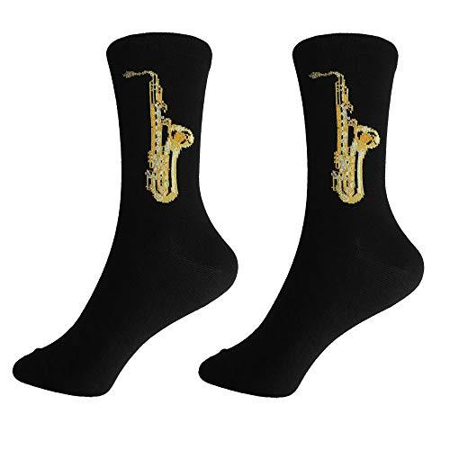 mugesh Musik-Socken Saxofon (39/42) - Schönes Geschenk für Musiker